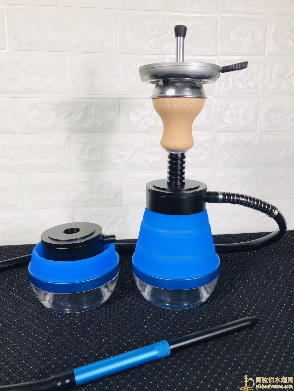 旅行包折叠款硅胶阿拉伯水烟壶自用单嘴便携