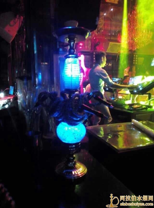 酒吧四嘴双灯阿拉伯水烟壶