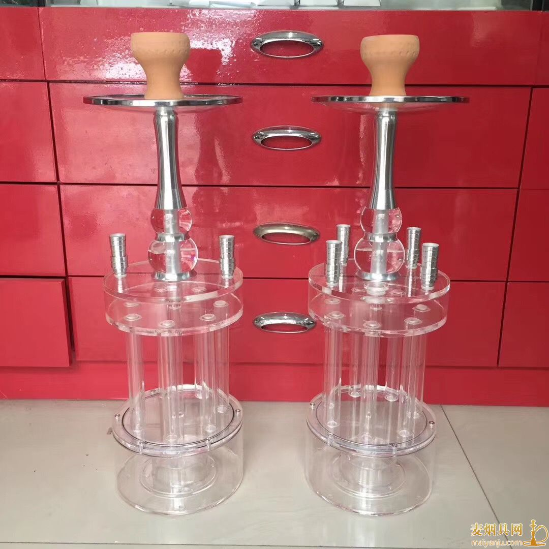 酒吧加特林四嘴带灯阿拉伯水烟壶组装使用方法