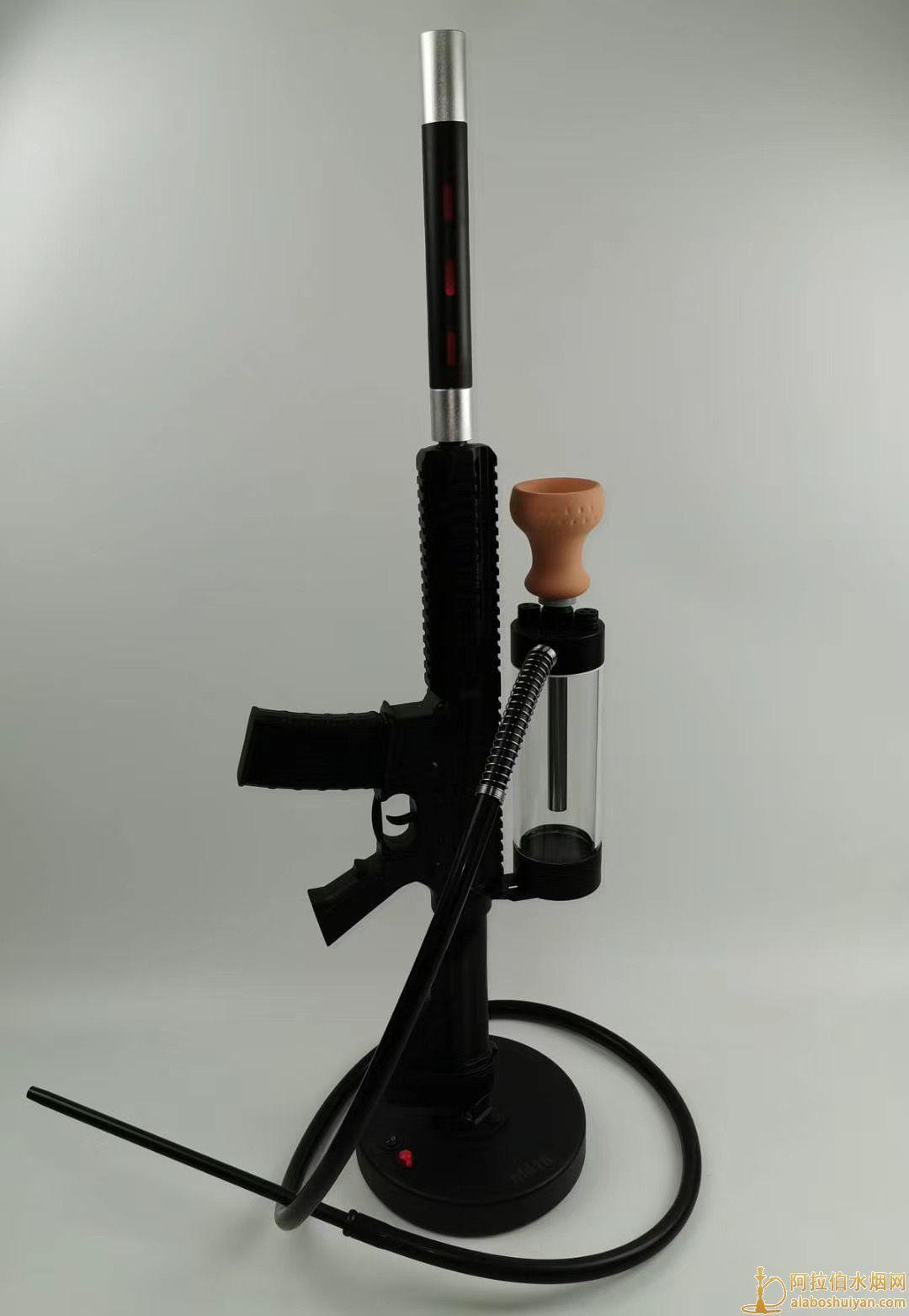 M416造型激光水烟壶个人单嘴酒吧用阿拉伯水烟壶