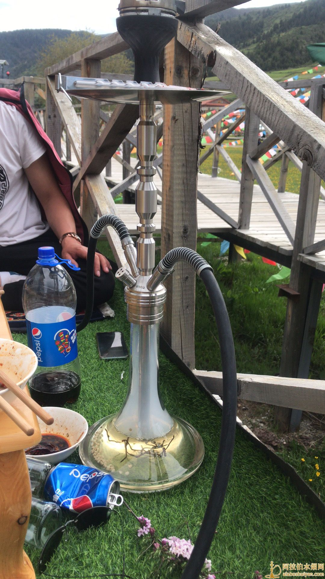 MIG HOOKAHmig阿拉伯水烟壶3.0双嘴不锈钢图片价格批发多少钱