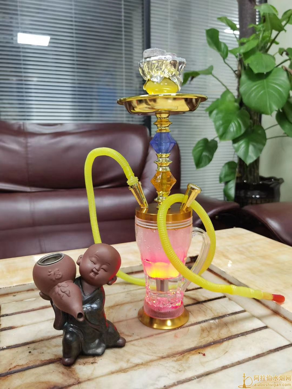 新款发光杯水烟壶 中号阿拉伯水烟壶图片价格批发多少钱