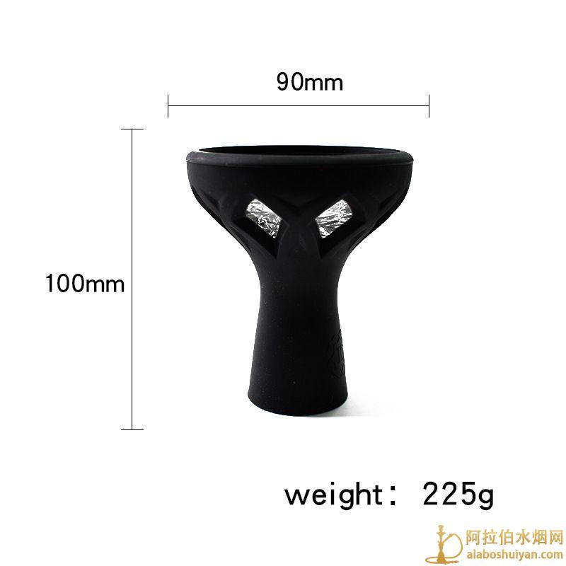 玻璃硅胶烟锅 黑色旋风硅胶玻璃水烟烟碗图片价格批发多少钱一个
