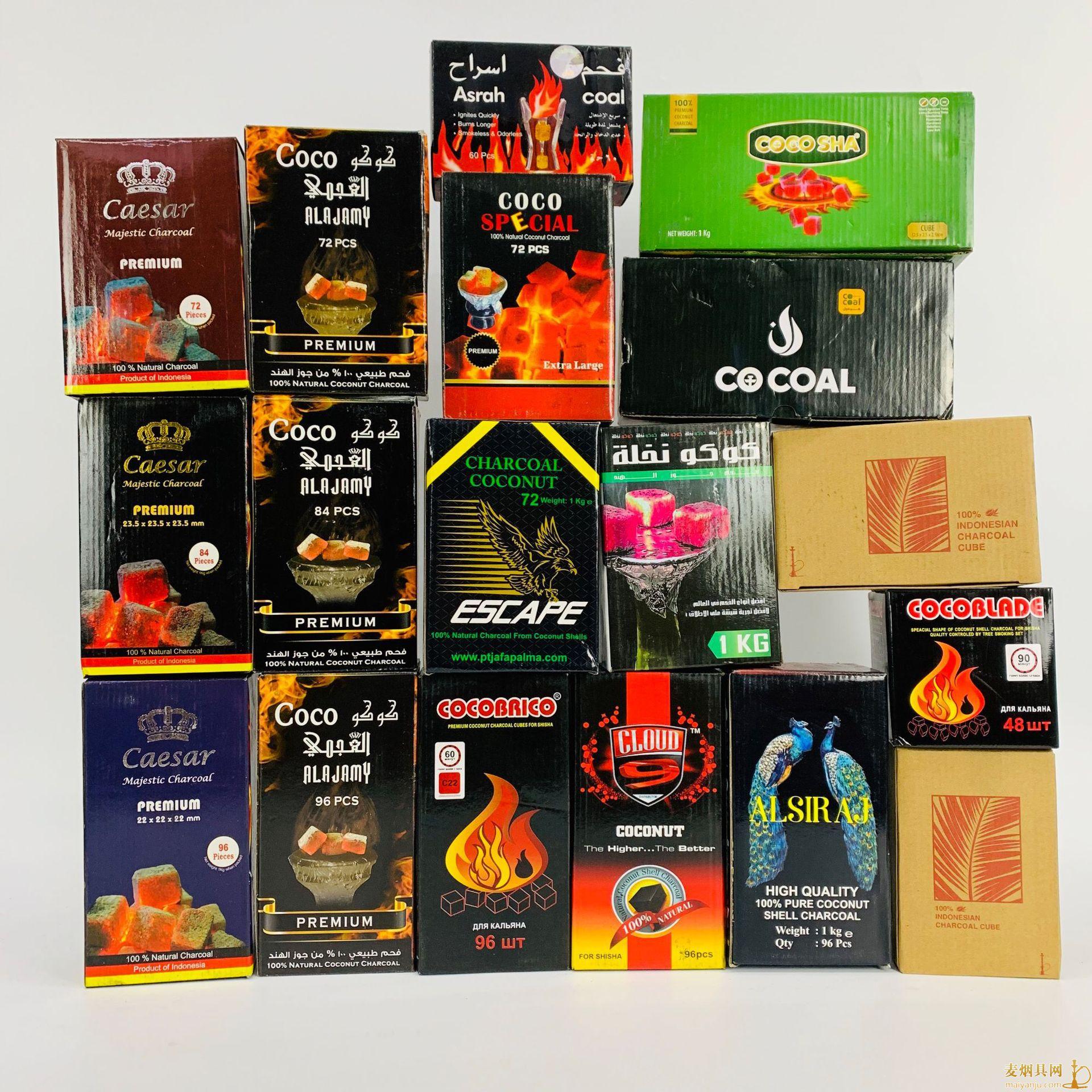 椰壳炭方碳慢燃碳品牌图片大全价格批发多少钱