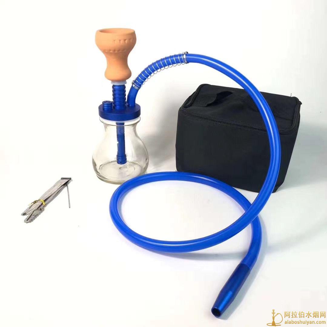 小号单嘴阿拉伯水烟壶带旅行包烟雾发方便携带
