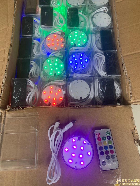 充电式LED遥控灯图片价格阿拉伯水烟壶带灯不用在买电池