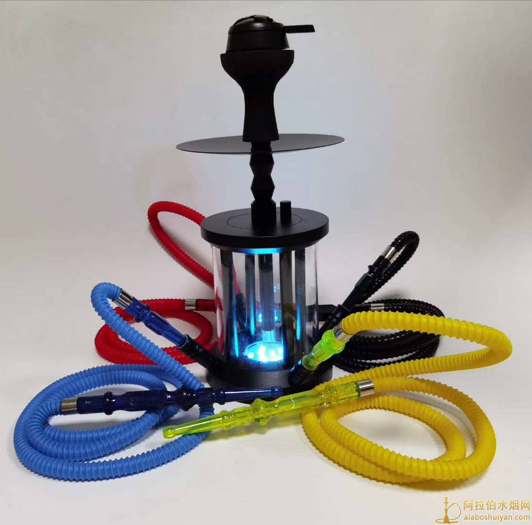 野营灯造型水烟壶带灯四嘴水烟壶适合酒吧用