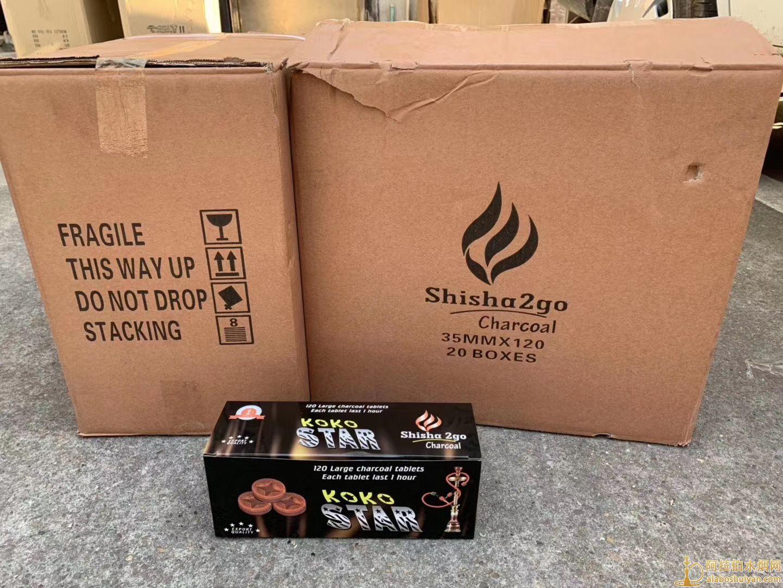 公鸡速燃碳星星助燃碳koko star水烟碳图片价格批发多少钱一盒