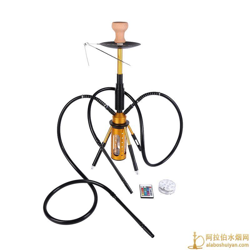 火箭个性水烟双管shishia hookah家用清吧水烟壶批发