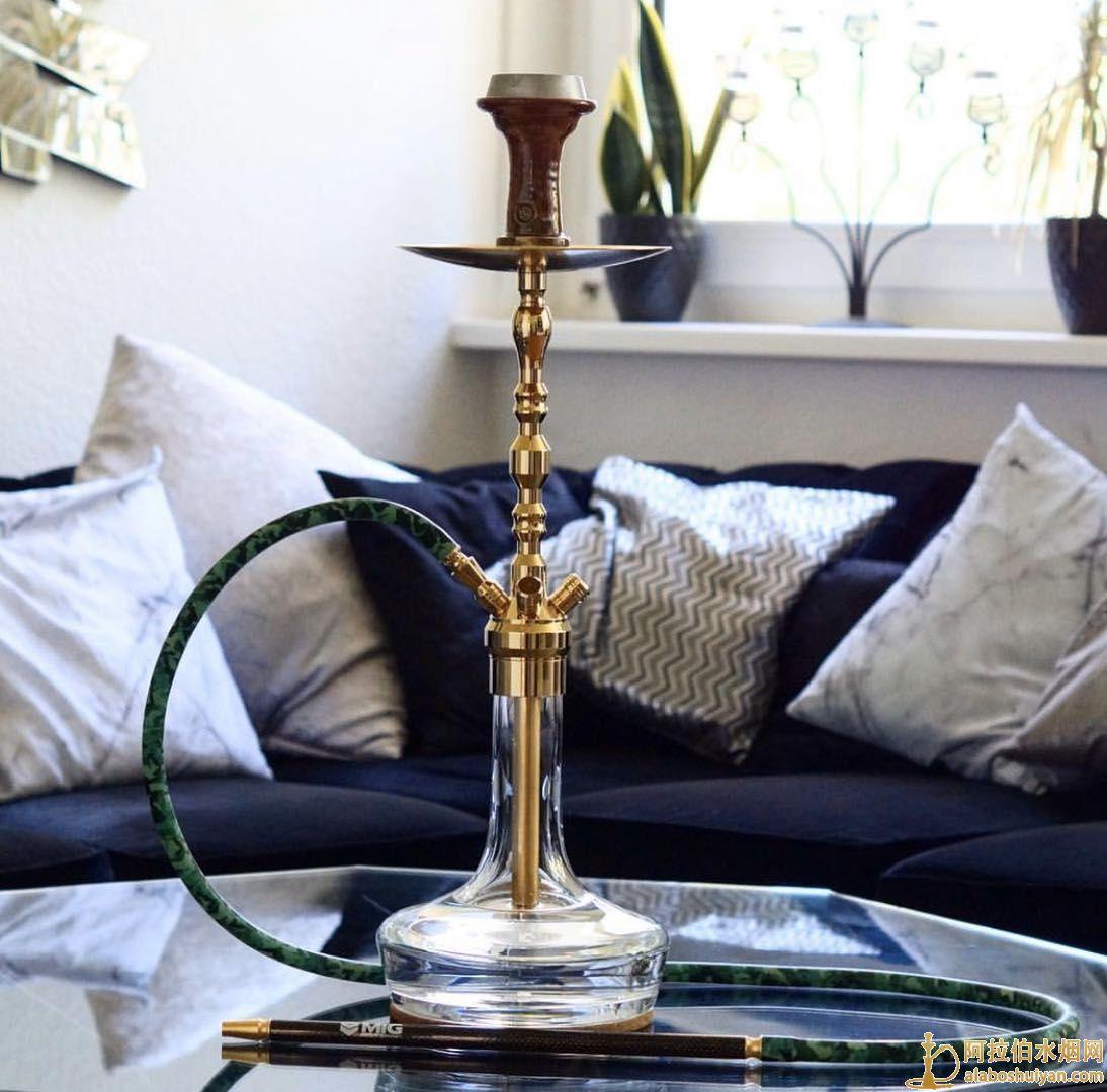 MIG新款阿拉伯水烟壶 金色不锈钢水烟壶图片价格批发多少钱
