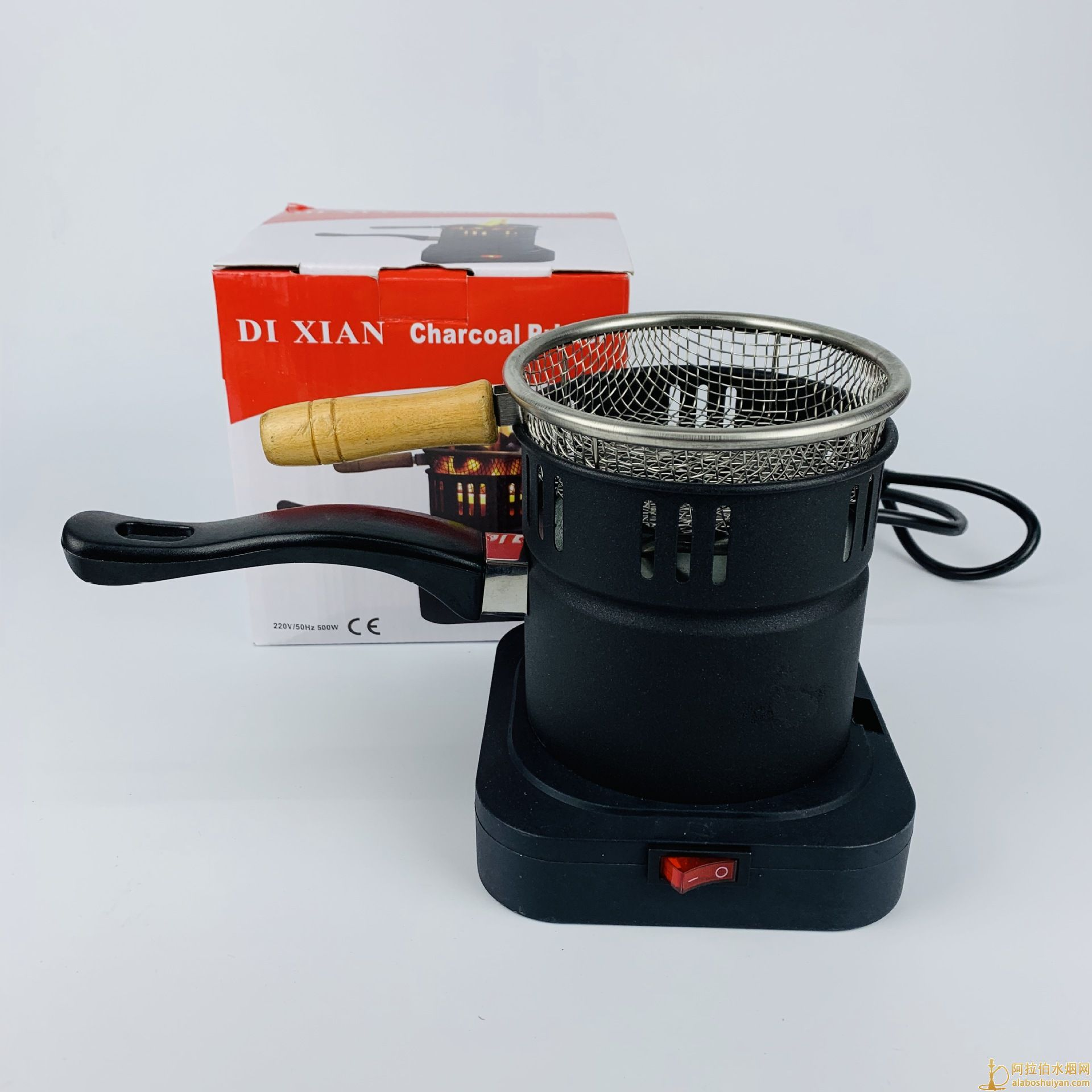 带铁勺金属不锈钢水烟碳炉 电热水烟点碳炉 shisha