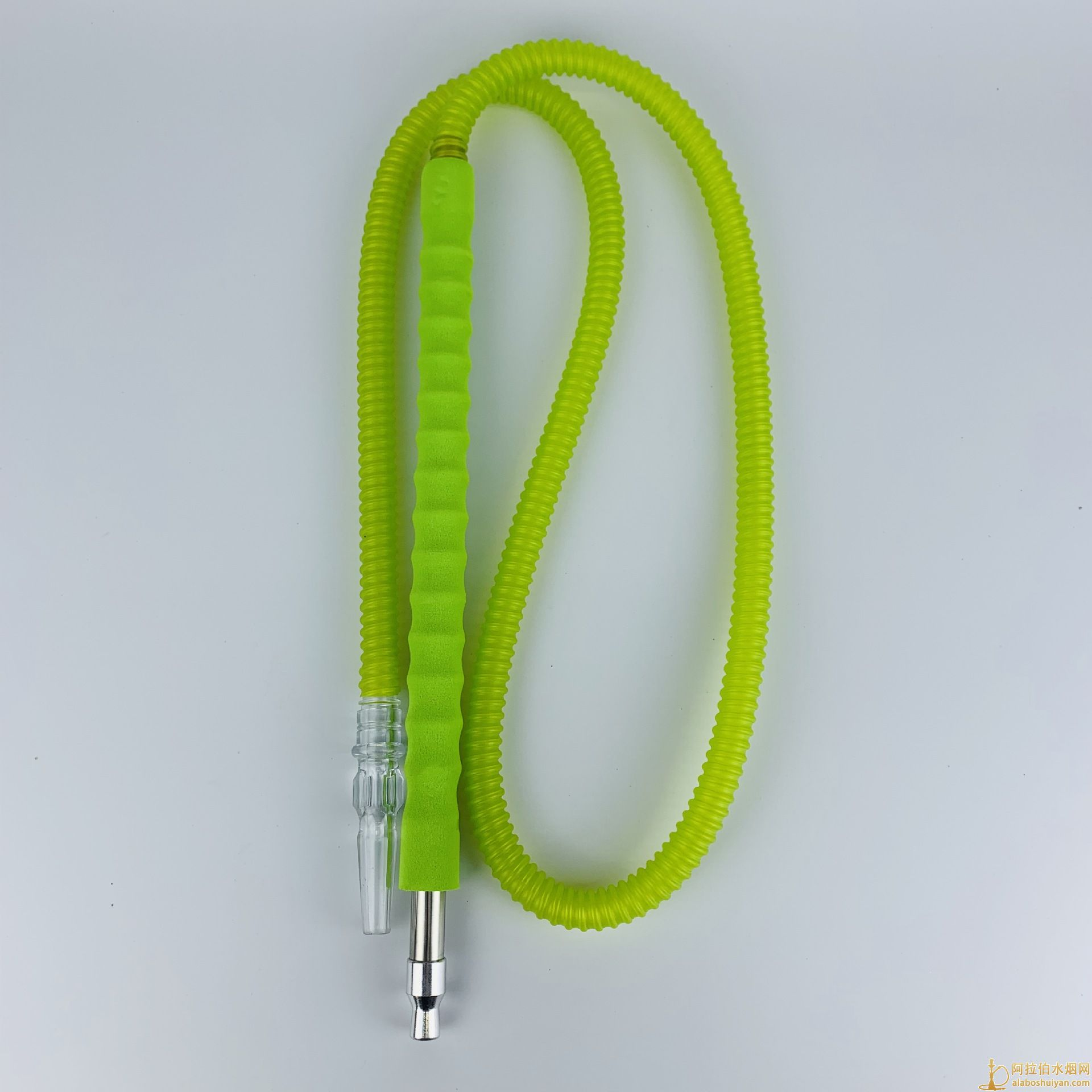 阿拉伯水烟吸管单色海绵手柄水烟吸管使用有档次通透