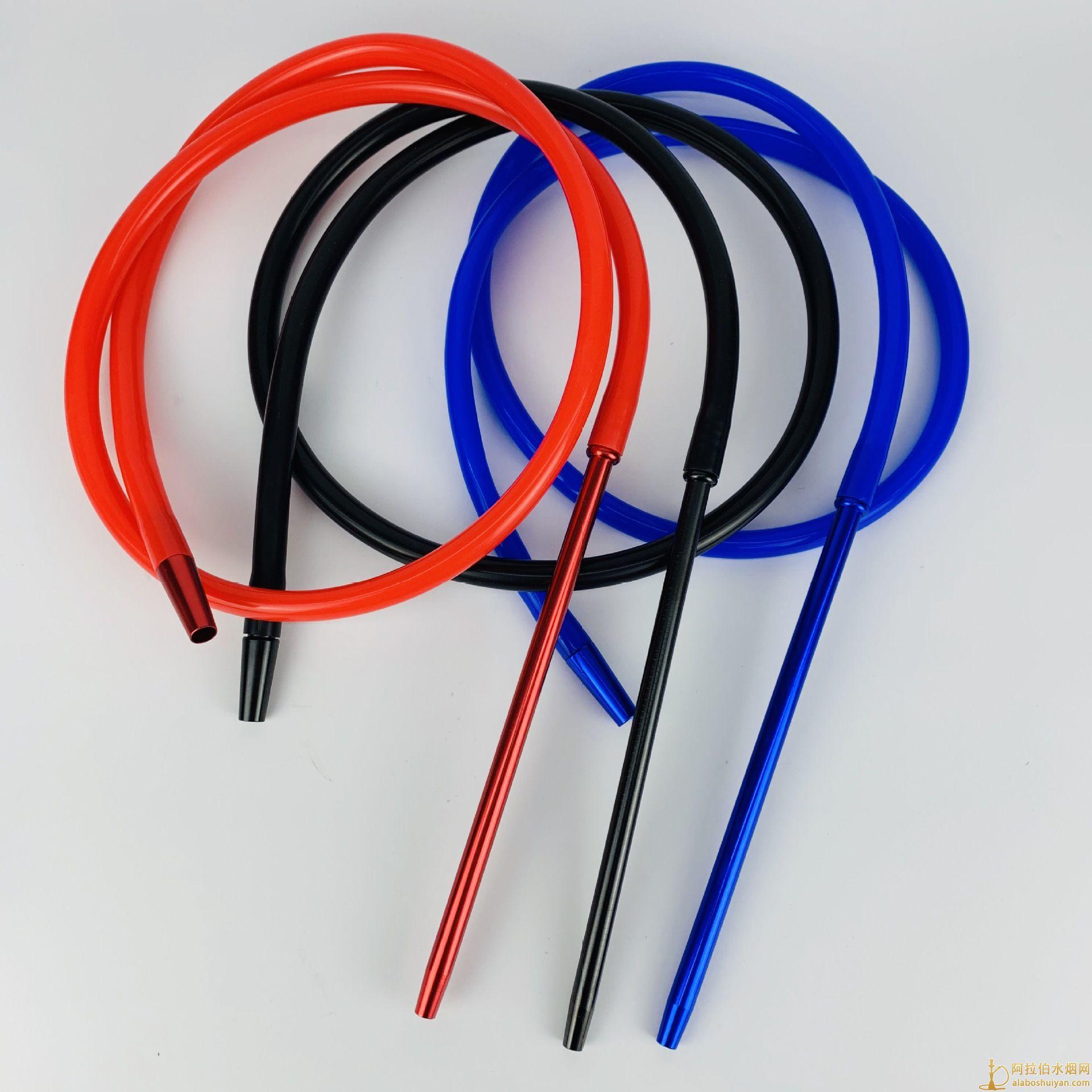 阿拉伯水烟铝手柄硅胶吸管1.8米长图片价格批发多少钱