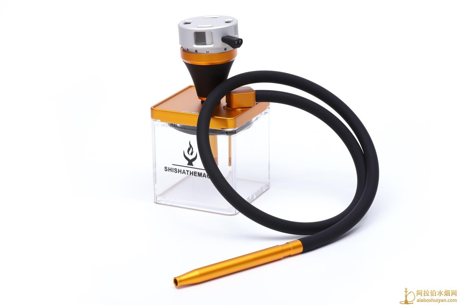 MAGIC亚克力水烟壶方形壶尺寸130*130 带包