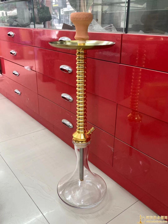 金色宝塔单嘴阿拉伯水烟壶图片价格宝塔水烟壶生产批发