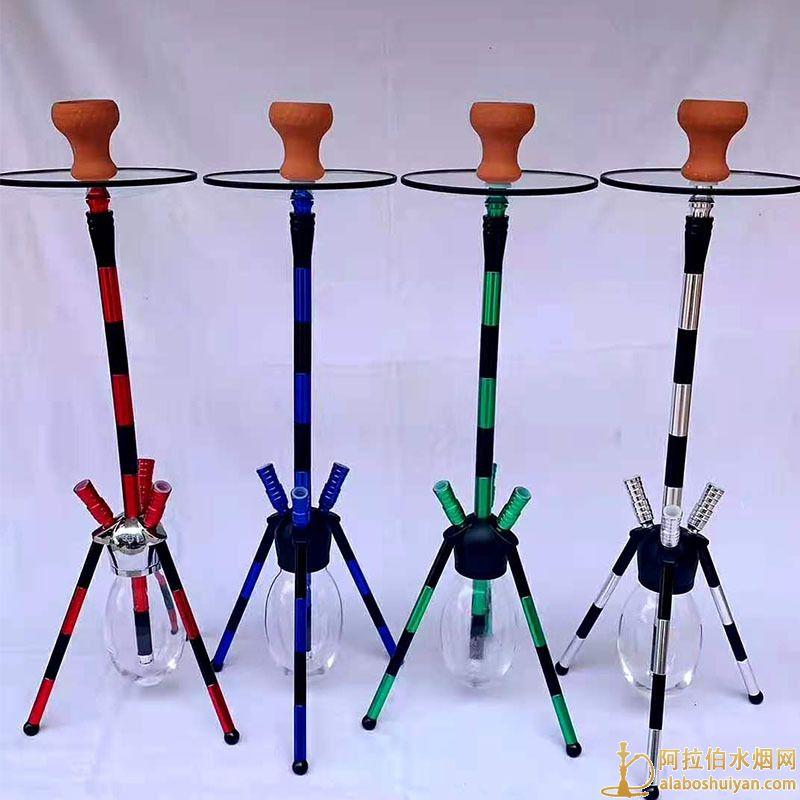 三脚架款式三管水烟壶 蜘蛛水烟壶