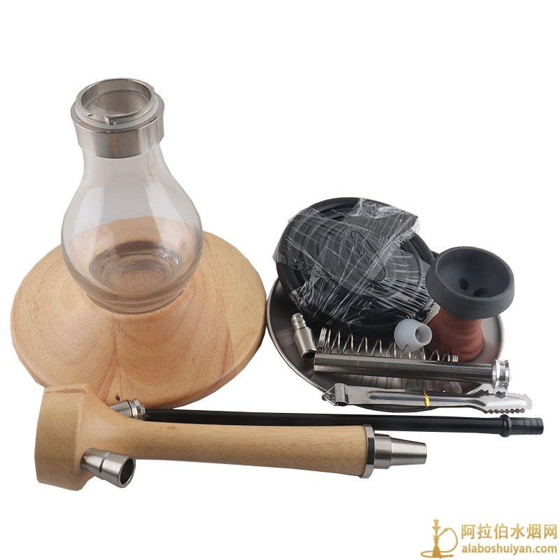 大底盘实木水烟壶 阿拉伯水烟壶