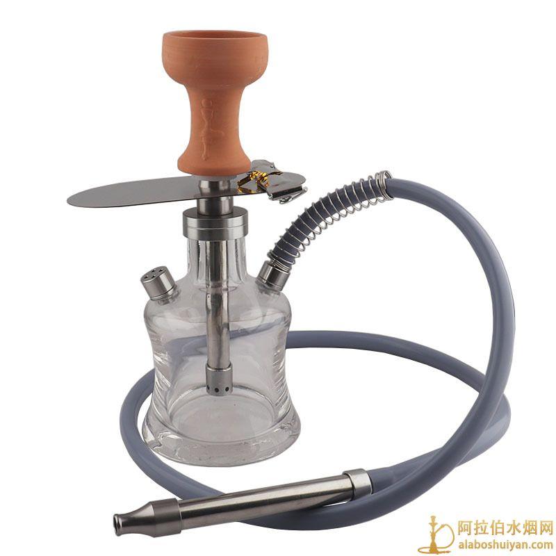 跨境货源 阿拉伯水烟套装 带包铝合金不锈钢玻璃水烟壶 Hookah