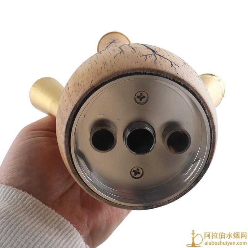 电击木雕刻水烟壶 木头阿拉伯水烟壶批发价格图片